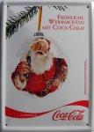 """Blechschild """"Coca Cola - Weihnachtsmann"""""""