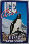 "Blechschild ""Ice Bier - Pinguine"""