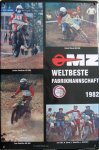"""Blechschild """"MZ Nr. 1 - Weltbeste Fabrikmannschaft 1982"""""""