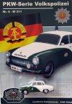 DDR-Pkw-Modell Volkspolizei-Serie Nr. 4 Wartburg