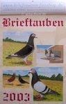 """Kalender """"Brieftauben 2003"""""""