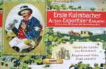 """Blechschild """"EKU - Kulmbacher Brauerei - Mann"""""""
