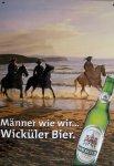 """Blechschild """"Wicküler Bier - Strand"""""""