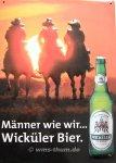 """Blechschild """"Wicküler Bier - Sonnenuntergang"""""""
