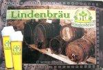 """Blechschild """"Lindenbräu - Fässer"""""""