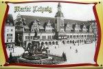 """Blechschild """"Markt Leipzig"""""""