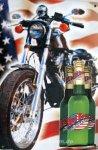 """Blechschild """"Red Beer - Motorrad"""""""
