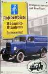 """Blechschild """"Böhmisch Brauhaus Hartmannsdorf"""""""