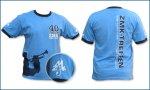 ZMK - T-Shirt, blau - 40 Jahre ZMK (für Damen und Herren)
