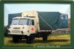 """Blechschild """"Robur Krankentransport NVA/Armee"""""""