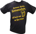 """TShirt mit Aufdruck """"Sommer, Sonne, Sonnenschein..."""""""