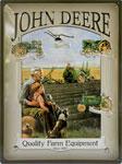 """Blechschild - John Deere """"Quality Farm Equipment"""" hell"""
