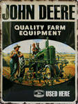 "Blechschild - John Deere ""Quality Farm Equipment"" sz"