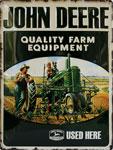"""Blechschild - John Deere """"Quality Farm Equipment"""" sz"""