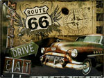 "Blechschild ""Route66 Road Trip"""