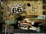 "Blechschild ""Route66 Road Trip"""