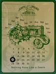 Blechschild - John Deere - Dauerkalender