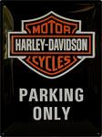 "Blechschild - Harley Davidson ""Parking Only"""
