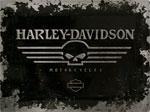 """Blechschild - Harley Davidson """"Skull Logo"""""""