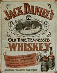 "Blechschild ""Jack Daniel`s Sippin Made in U.S.A."""