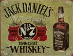 "Blechschild ""Jack Daniel`s - Whiskey Old Brand No. 7"""