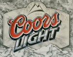 "Blechschild ""Coors Light Frosted"""