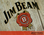 "Blechschild ""Jim Beam"""