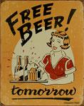 """Blechschild """"Moore - Free Beer"""""""