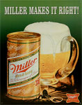 "Blechschild ""Miller Makes It Right"""