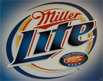 "Blechschild ""Miller Lite Brushed Metal"""