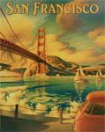 """Blechschild """"San Francisco"""""""