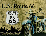 "Blechschild ""U.S. Route 66"""