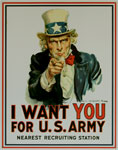"Blechschild ""I Want You for U.S. Army"""