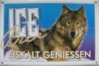 """Blechschild """"Ice Bier - Wolf"""""""