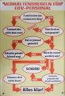 """Blechschild """"Verhaltensregeln für EDV-Personal"""""""