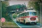 """Busblechschild Bus """"Skoda 706 RTO mit Anhänger"""""""