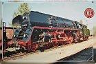 """Blechschild """"Historische Dampflokomotiven Nr. 01"""""""