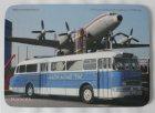 """Mousepad bedruckt - Oldtimer-Bus """"Ikarus 66 + Flugzeug"""""""