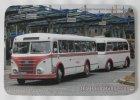 """Mousepad bedruckt - Oldtimer-Bus """"IFA H6 B Hängerzug"""""""