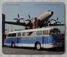 """Schneidunterlage bedruckt - Oldtimer-Bus """"Ikarus 66 + Flugzeug"""""""