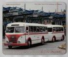 """Schneidunterlage bedruckt - Oldtimer-Bus """"IFA H6 B Hängerzug"""""""