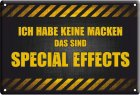"Blechschild ""Special Effects"""
