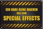 """Blechschild """"Special Effects"""""""