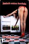 Blechschild - Frau am Kühlschrank
