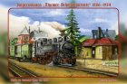 "Blechschild ""Thumer Schmalspurnetz Nr. 1 - Bahnhof Thum um 1960"""