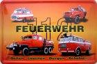 Blechschild - Feuerwehr Fahrzeug DDR
