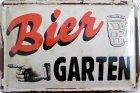 "Blechschild ""Biergarten Bier Vintage Hinweisschild """
