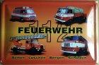 Blechschild - Feuerwehr DDR 112 Fahrzeuge