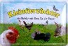 """Blechschild """"Kleintierzüchter"""""""