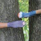 Erzgebirgische Handsocken Eule und Keiler
